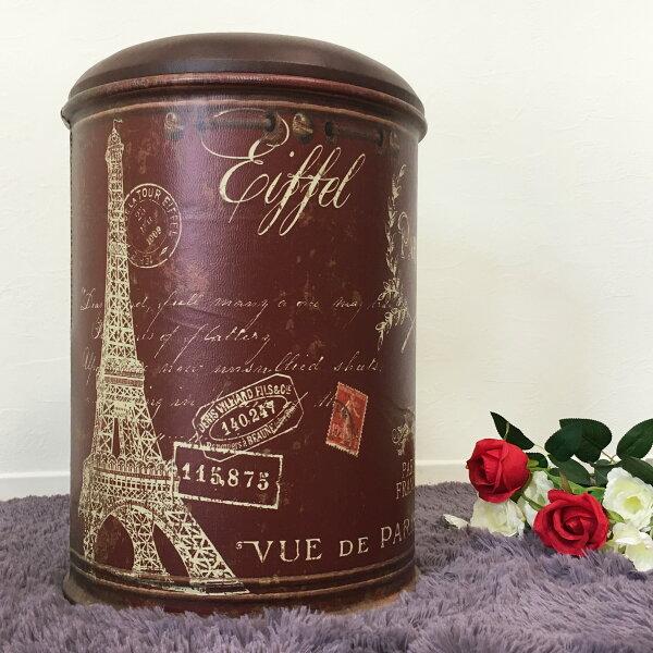 !新生活家具!《9ball》巴黎鐵塔咖啡圓筒椅工業風穿鞋椅收納椅收納凳汽油桶鐵桶美式酒吧裝飾