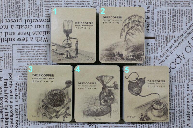 <br/><br/>  【翔咖啡】素描系列 掛耳式 / 濾掛式 咖啡外袋 100入<br/><br/>