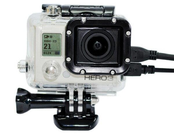 GOPRO HERO3 專用 副廠 保護殼 側邊開孔 適合FPV 外接 含鏡片 【BGPA29】