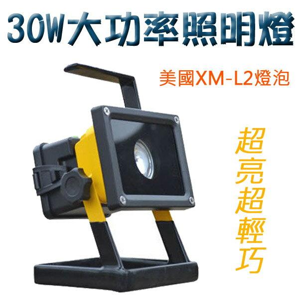 LED 30W大功率 工作燈 照明燈 探照燈 LED燈 工程燈 釣魚燈【FLAA5B】
