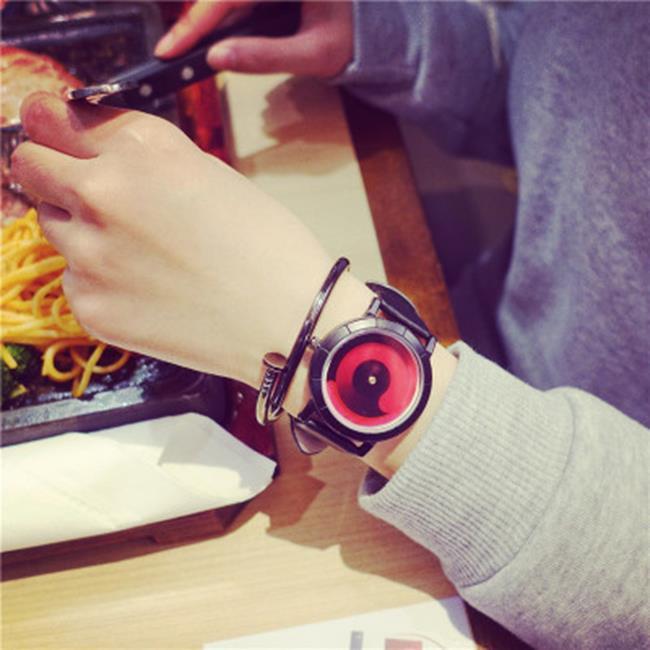 《全店$399免運》50%OFF SHOP【H021538WAH】黑科技概念手錶創意個性無指針韓國青少年中學生情侶一對韓版潮流