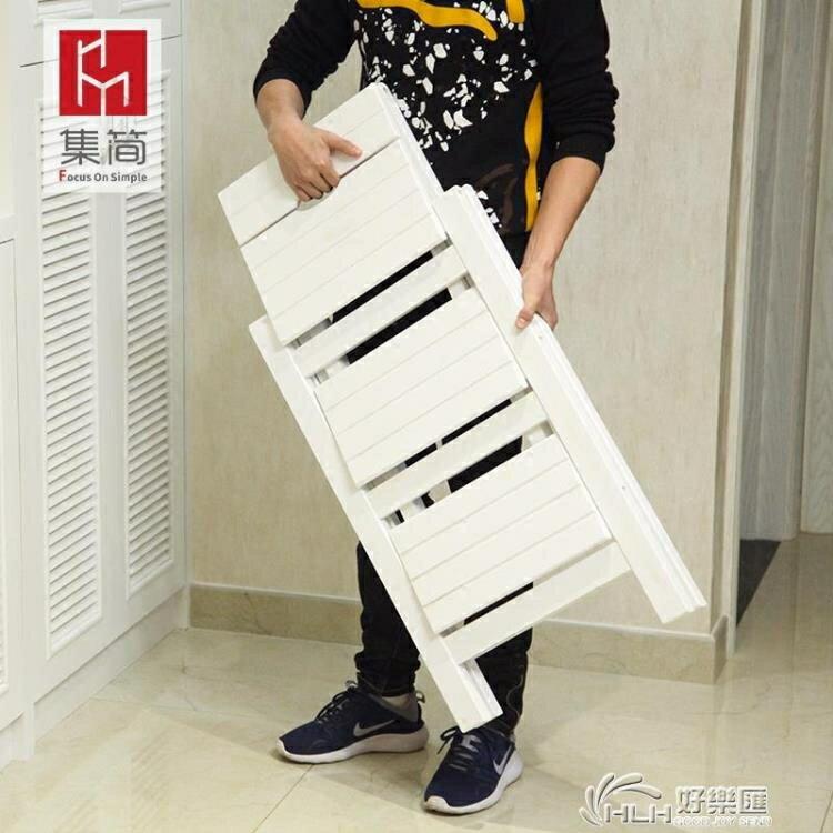 實木家用多功能摺疊梯子三步梯椅梯凳室內登高梯木梯子置物架