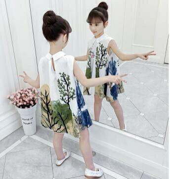 女童洋裝 漢服女童夏裝連身裙2020新款國民風旗袍兒童小女孩超洋氣公主裙子 年貨節預購