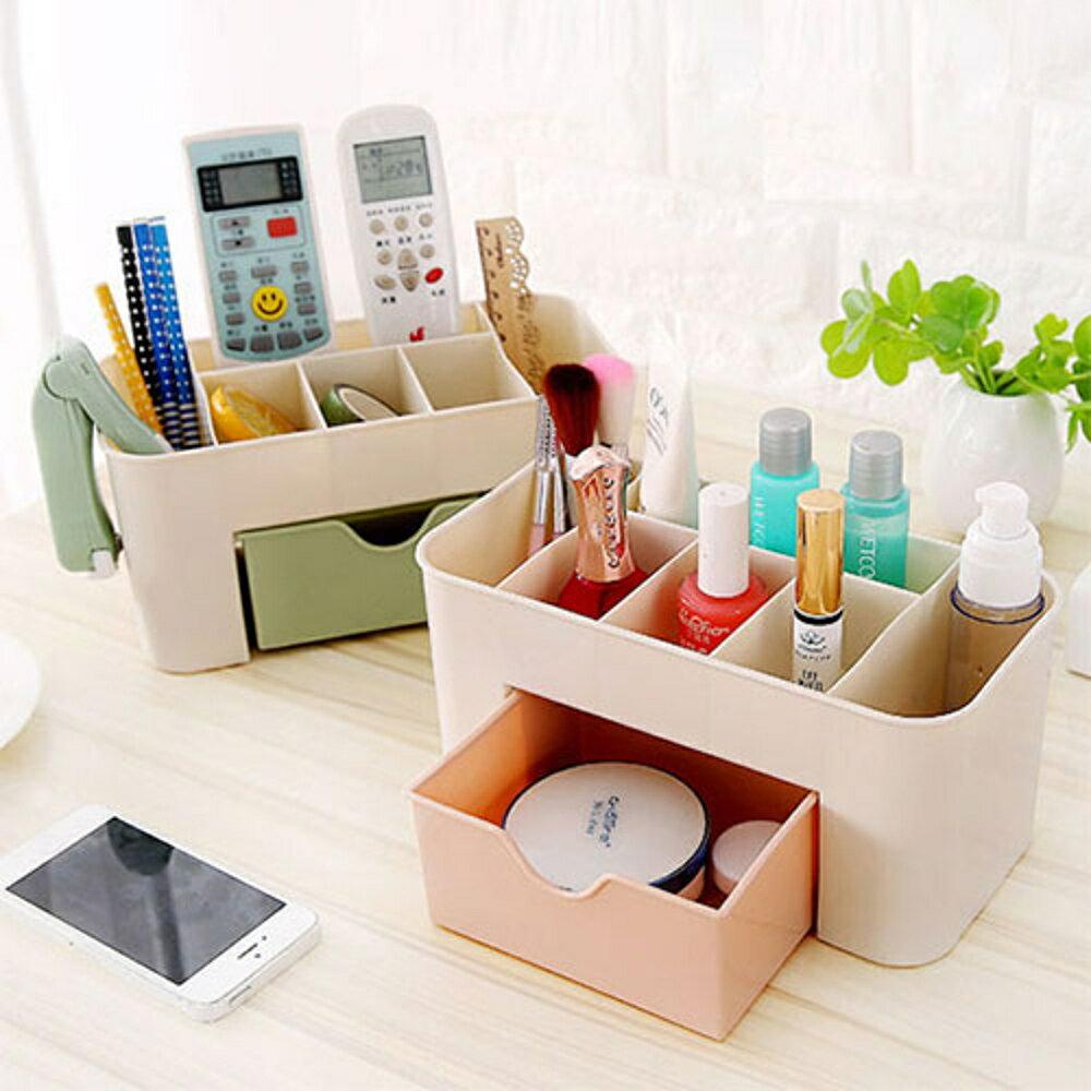 ✤宜家✤抽屜式化妝品收納盒 化妝品整理盒 桌面文具首飾保養品分格收納盒