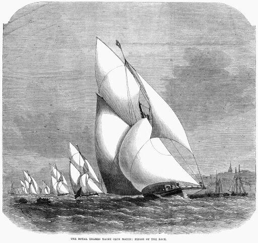 England Yacht Race 1869 Nthe Finish Of The Royal Thames Yacht Club Match Wood Engraving English 1869 Poster Print by (24 x 36) 1cd4da6e779e1bc0faf590c1da39eed1