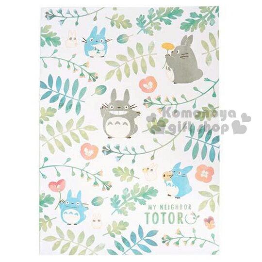 〔小禮堂〕宮崎駿 Totoro龍貓 日製筆記本~B5.白.花草滿版~