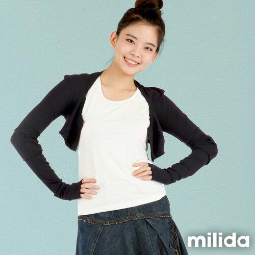 【Milida,全店七折免運】-秋高氣爽-外套款-短版小外套
