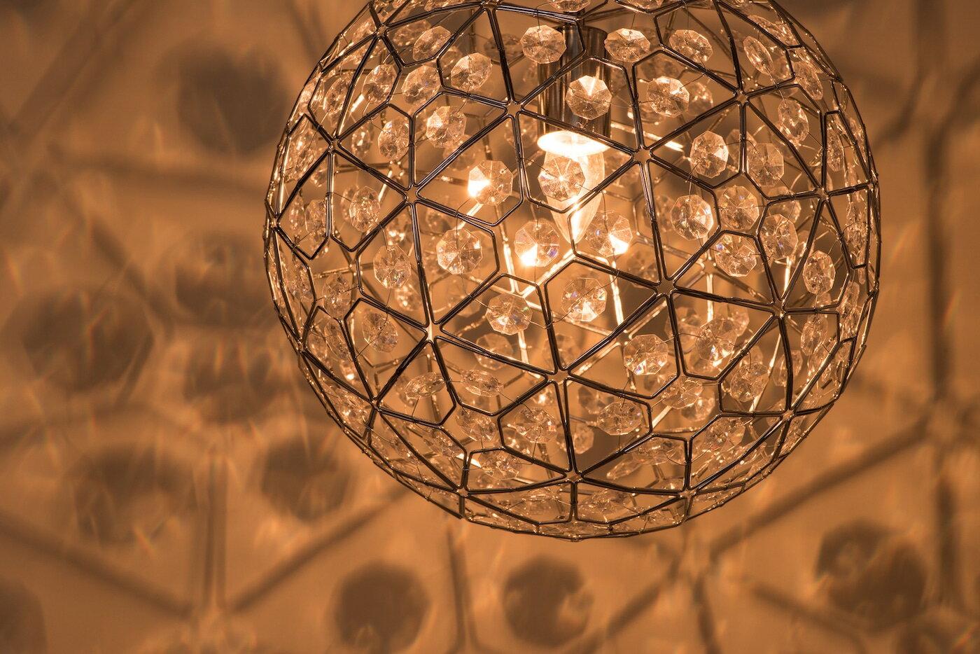 圓形幾何圖案壓克力吊燈-BNL00069 3