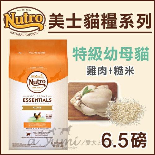 《Nutro美士》特級幼母貓配方(雞肉+糙米)-6.5LB / 貓飼料