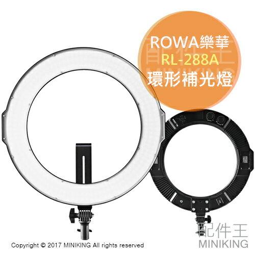 【配件王】現貨免運公司貨ROWA樂華Viltrox唯卓RL-288A環形補光燈專業攝影燈棚燈美瞳