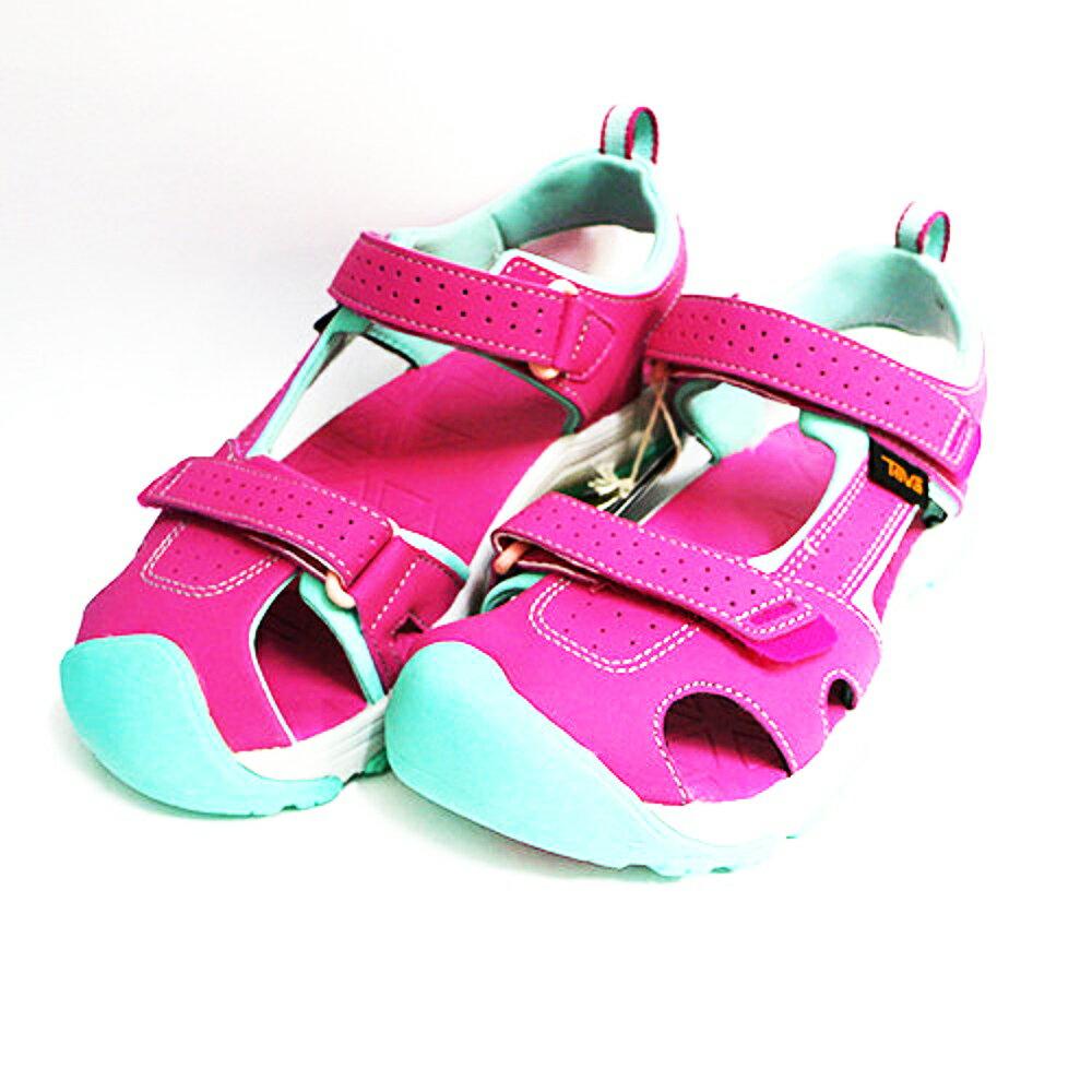 TEVA 大童運動涼鞋 Hurricane Toe Pro (粉) 綁帶涼鞋 耐磨抗菌 1019402YRASP 【胖媛的店】