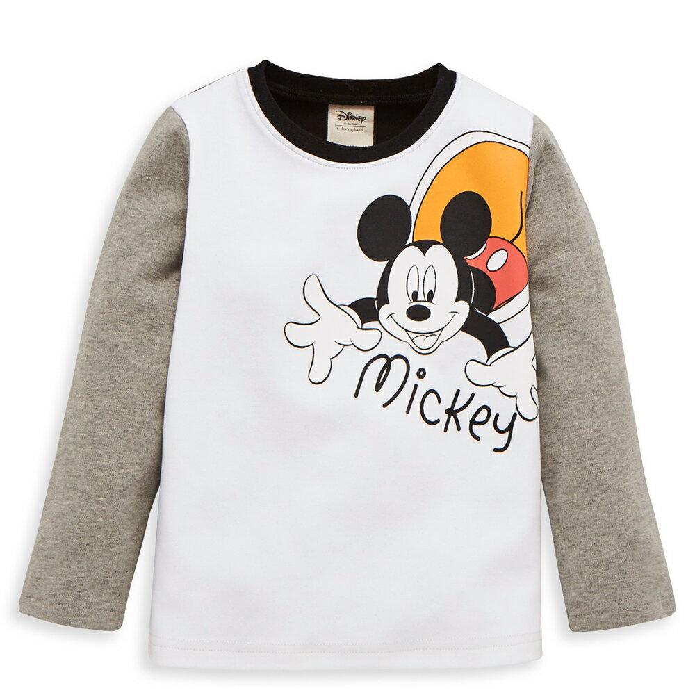 Disney baby 米奇系列魔術長袖上衣-白色