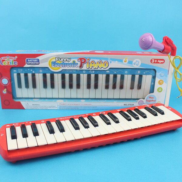 兒童電子琴 3703A 多功能學習琴 玩具(37鍵/附電池)/一個入{促350}~CF108534