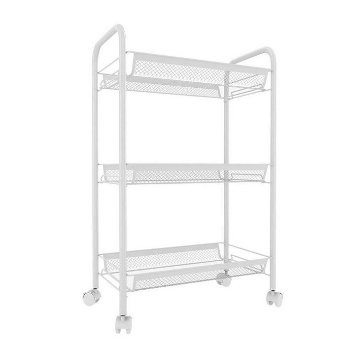 3/4/5 Tier Rolling Cart Organization with Wheels Net Basket Storage Cart Rack 4