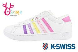 K-Swiss Hoke CMF休閒鞋 成人女款 漸層配色 運動鞋C9953#白粉◆OSOME奧森鞋業