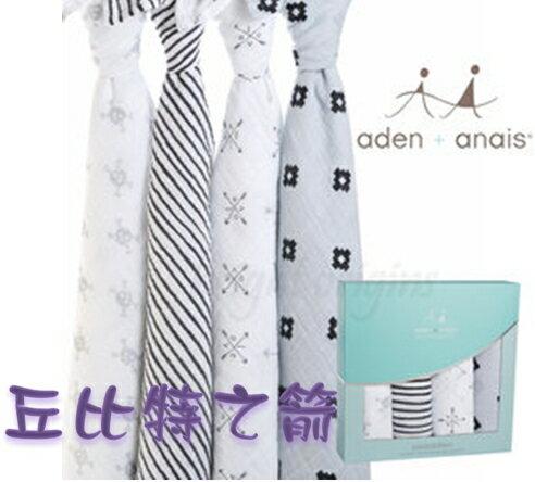 【淘氣寶寶】Aden + Anais全款式 聯名設計雙層細紗布輕柔新生兒包巾(4入裝) FBPPL 2