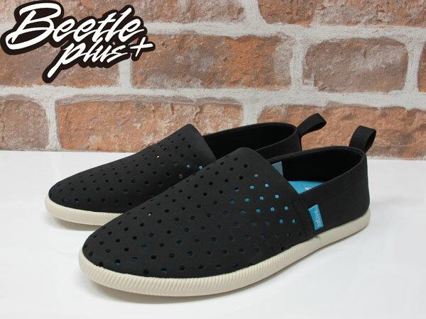 《限時6折免運》BEETLE PLUS NATIVE VENICE JIFFY BLACK 維納斯 黑白 洞洞鞋 休閒鞋 懶人鞋 1