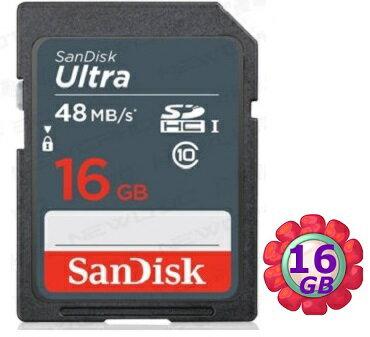 SanDisk 16GB 16G SDHC【48MB/s】Ultra SD UHS-I UHS C10 Class 10 原廠包裝 相機記憶卡