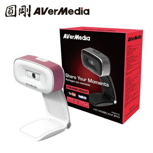 圓剛 PW310 直播攝影機  1080p 高清錄影網路攝影機 白色