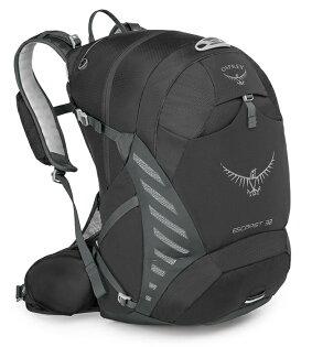 【Osprey美國】ESCAPIST32單車背包運動背包健行背包旅行背包黑色〈容量32L〉Escapist32
