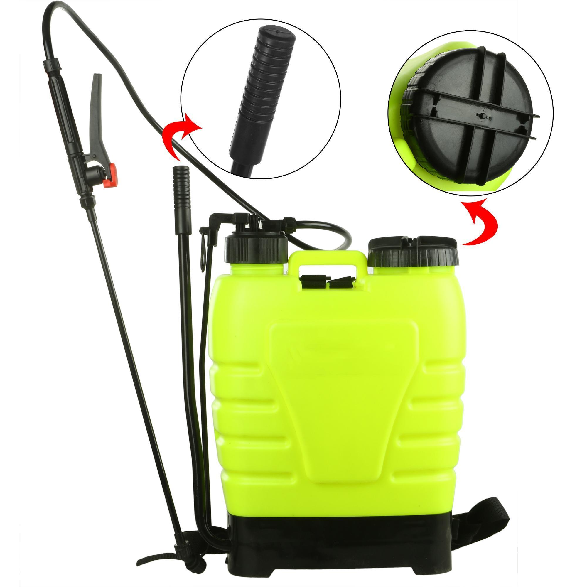 Portable Pressure Sprayer Knapsack 16L Garden Yard Weed Chemical 2