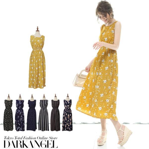 日本必買女裝DarkAngel女士時尚休閒無袖連身裙(六月中旬日本出貨-免運代購