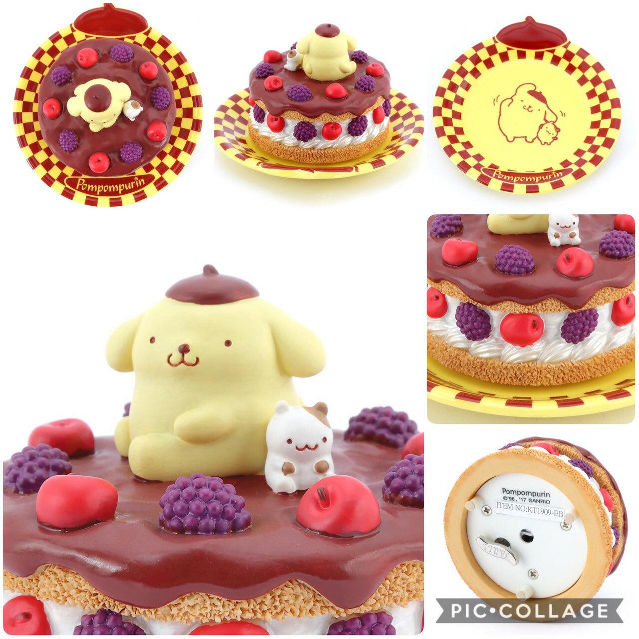 Pom Pom Purin 布丁狗 夢幻甜點系列之  甜點/ 生日蛋糕 水晶球音樂盒/擺飾