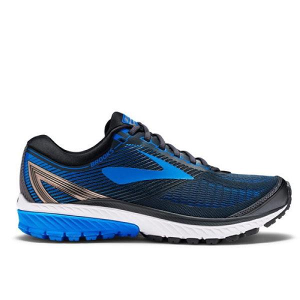 BROOKS男慢跑鞋GHOST10(黑藍)避震緩衝1102572E056【胖媛的店】