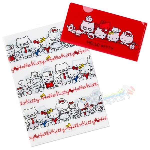 【真愛日本】4901610062388日本製兩入文件夾-KT家族ADM凱蒂貓kitty三麗鷗家族文件夾資料夾