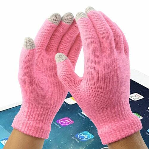 觸控手套 冬季抓絨保暖可觸控手機毛線手套
