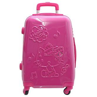 【加賀皮件】Hello Kitty 凱蒂貓 立體 拉鍊 夢幻樂章 20吋 行李箱 旅行箱 KT01O20FC