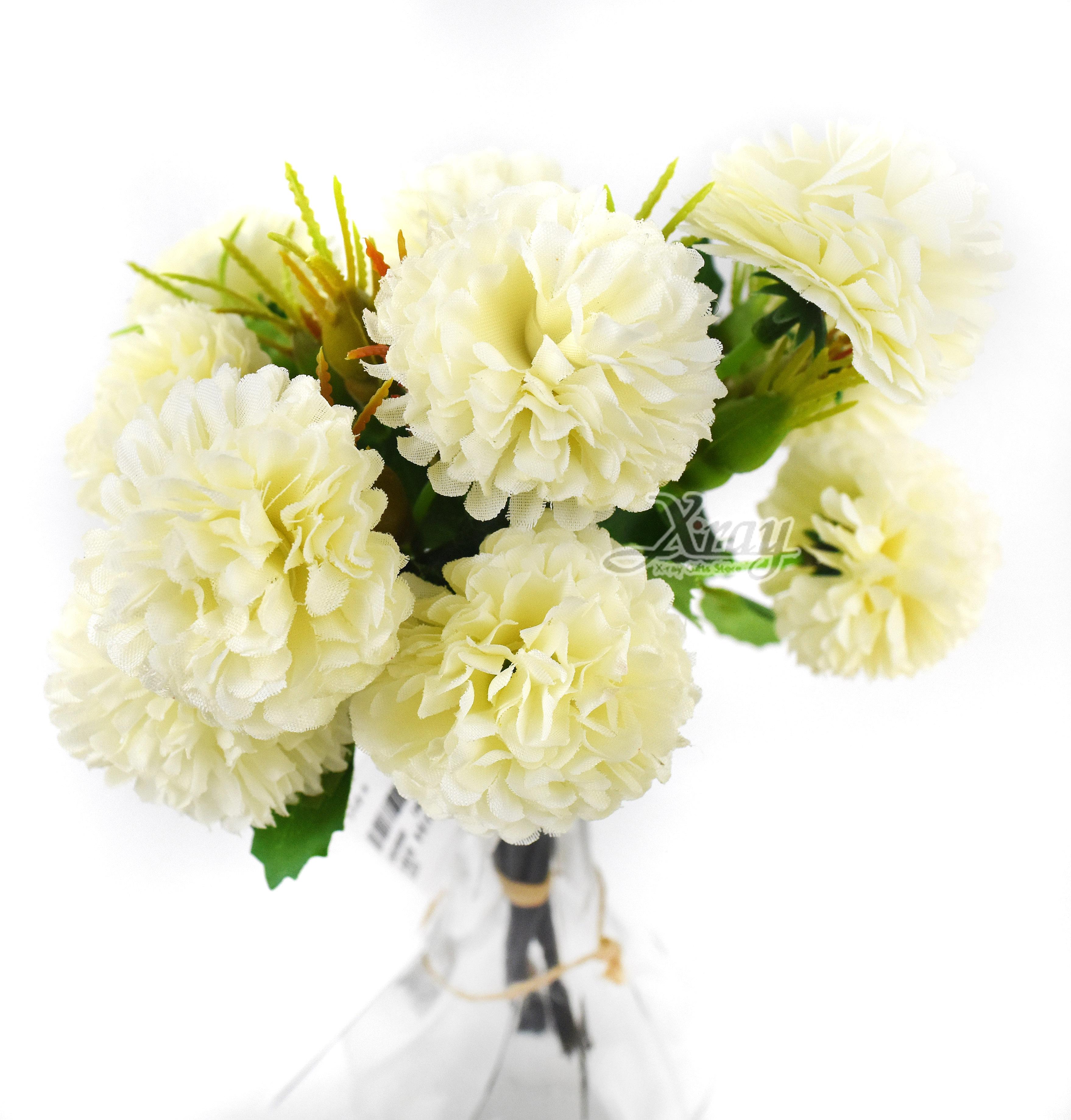 X射線【Y039080】乒乓菊-白,仿真花 人造花  家飾 婚禮小物 佈置 裝飾 幼兒園 送禮  髮飾 活動佈置 花束 花園 陽台
