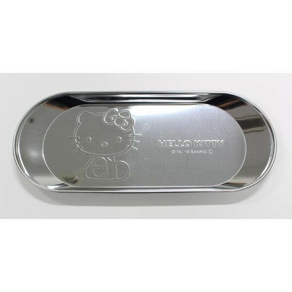 X射線【C168405】Hello Kitty 不銹鋼小物盤(丸型),不鏽鋼小物百用收納架/.飾品盤/菸灰缸小點心盤/零錢盤