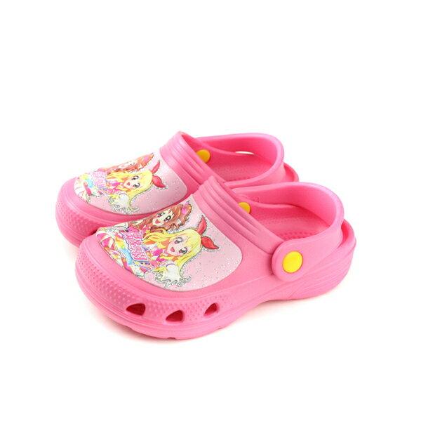 偶像學園拖鞋式涼鞋桃紅色中童童鞋ID0717no734