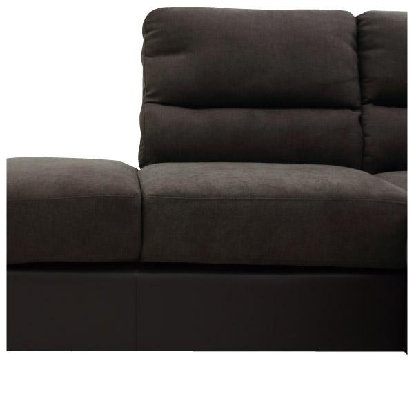 ◎(OUTLET)布質右躺椅L型加大沙發 DOUBLE LINE DBR 福利品 NITORI宜得利家居 6