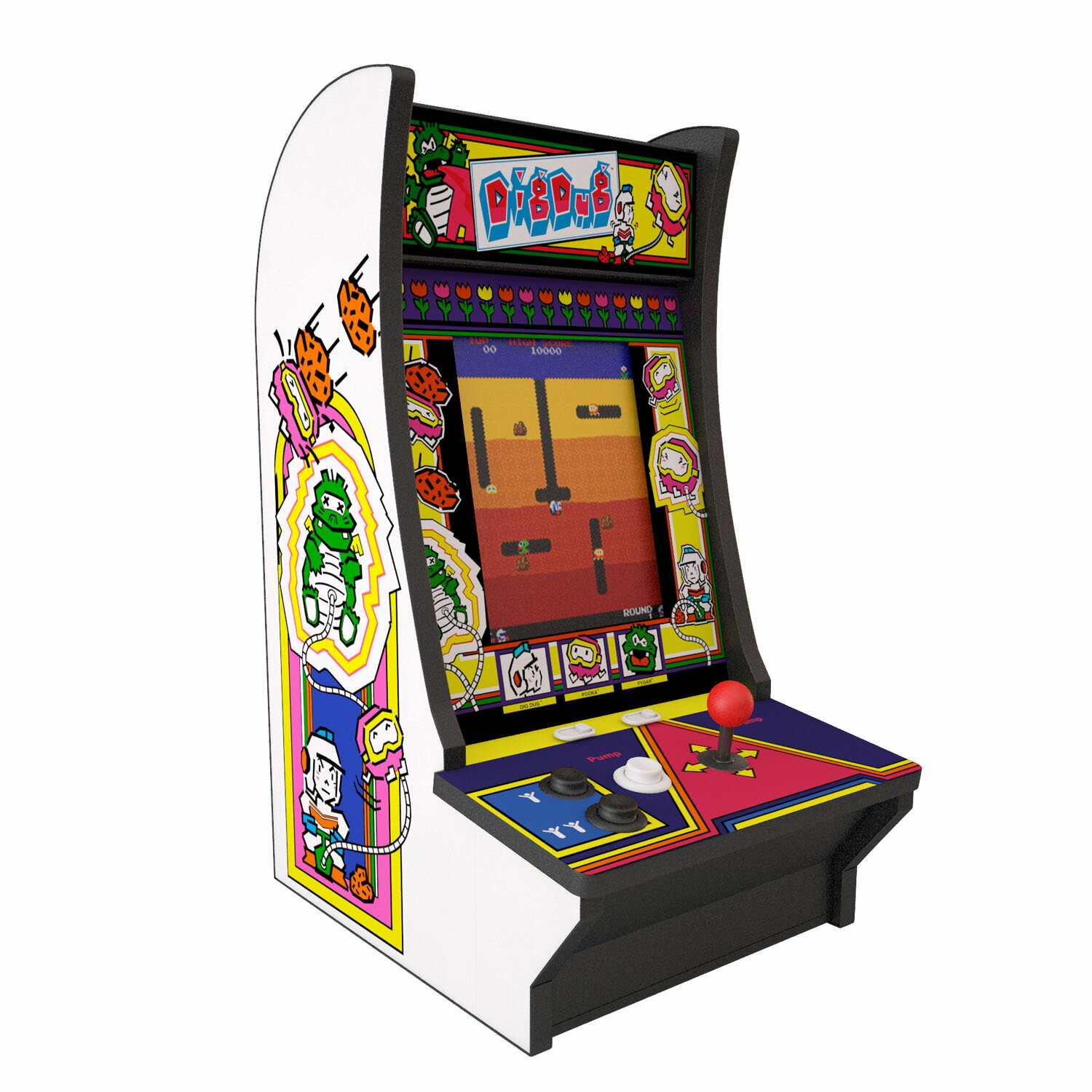 Arcade 1Up Dig Dug & Dig Dug 2 Counter Arcade System