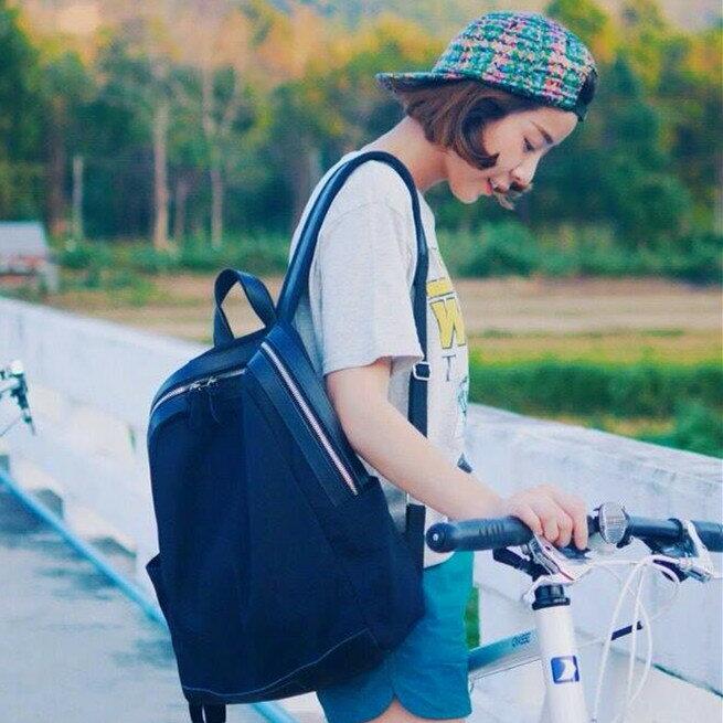WHITEOAK 超實用多夾層配色backpack帆布包(6色) 5