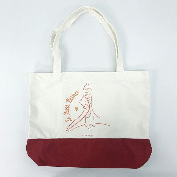 YOSHI850:小王子經典版授權【拼色購物包-02(紅)】