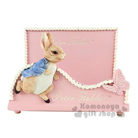 〔小禮堂〕Peter Rabbit 彼得兔 名片座擺飾《粉.跑步.蝴蝶》