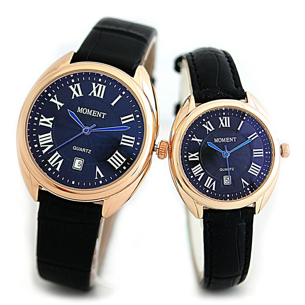 MOMENT 8093 羅馬風情簡約時刻設計皮帶錶 0