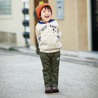 【NISSEN】童裝|內側起絨斜紋織褲