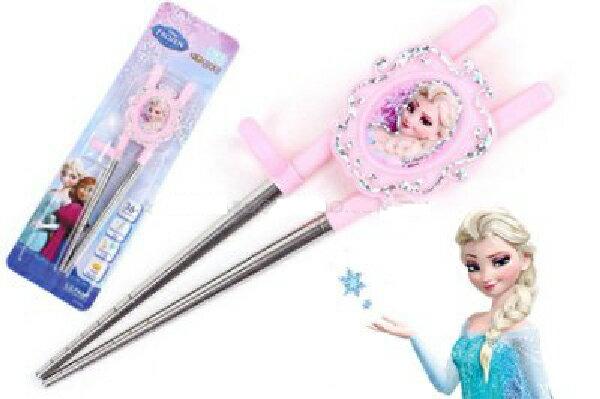 【安琪兒】【Frozen 冰雪奇緣】不鏽鋼學習筷(右手) - 限時優惠好康折扣