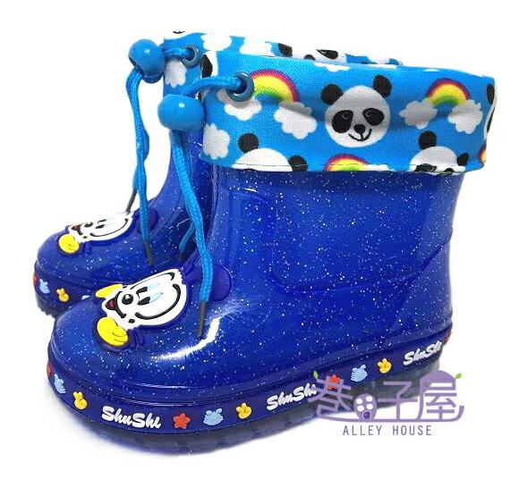 【巷子屋】男童款動物造型電燈襪套雨鞋 雨靴 [689] 藍 超值價$218