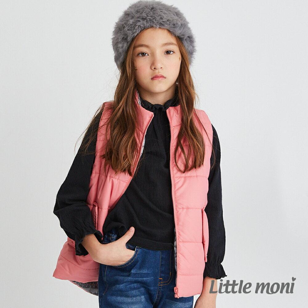 Little moni 3M科技羽絨保暖雙面穿背心-熱情粉(好窩生活節) 1