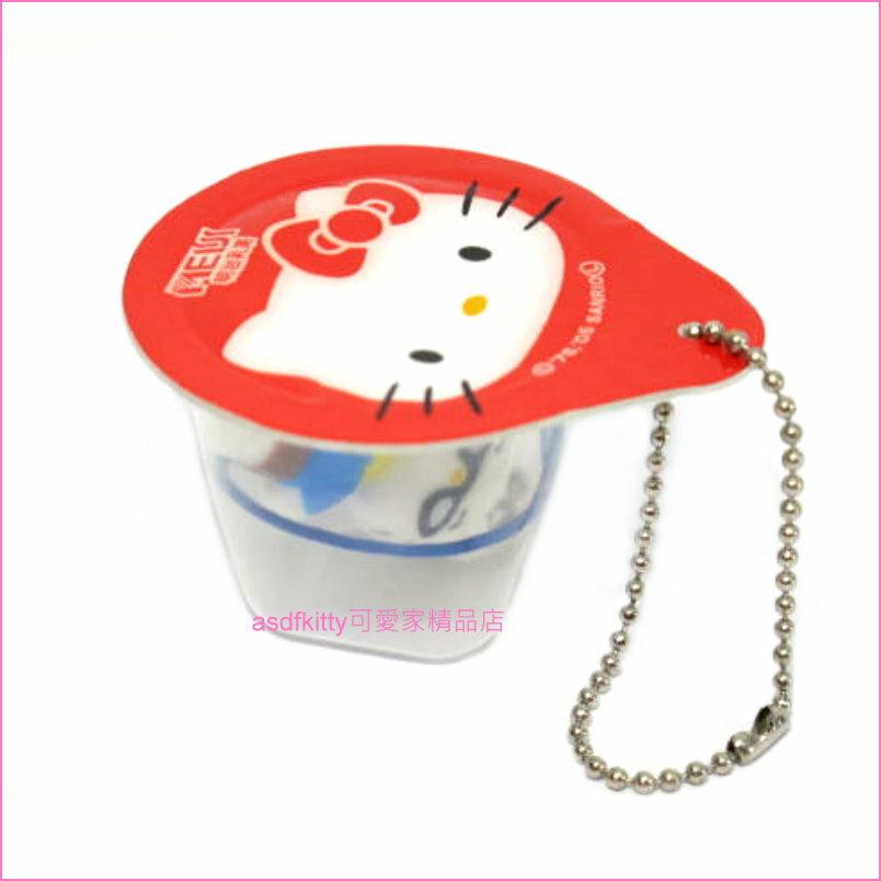 asdfkitty可愛家☆KITTY果凍吊飾/包包吊飾/掛飾/鑰匙圈-日本正版商品