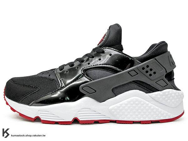 2017 少量入荷 1992 經典鞋款 重新復刻 NIKE AIR HUARACHE BRED 黑紅 網布 亮皮 透氣 輕量 慢跑鞋 限量發售 (318429-032) 0117 0