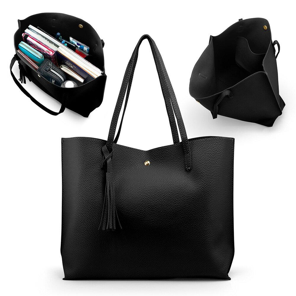 Women Tote Bag Tassels Leather Shoulder Handbags Fashion Ladies Purses Satchel  Messenger Bags 5 8ba7d5c1d2