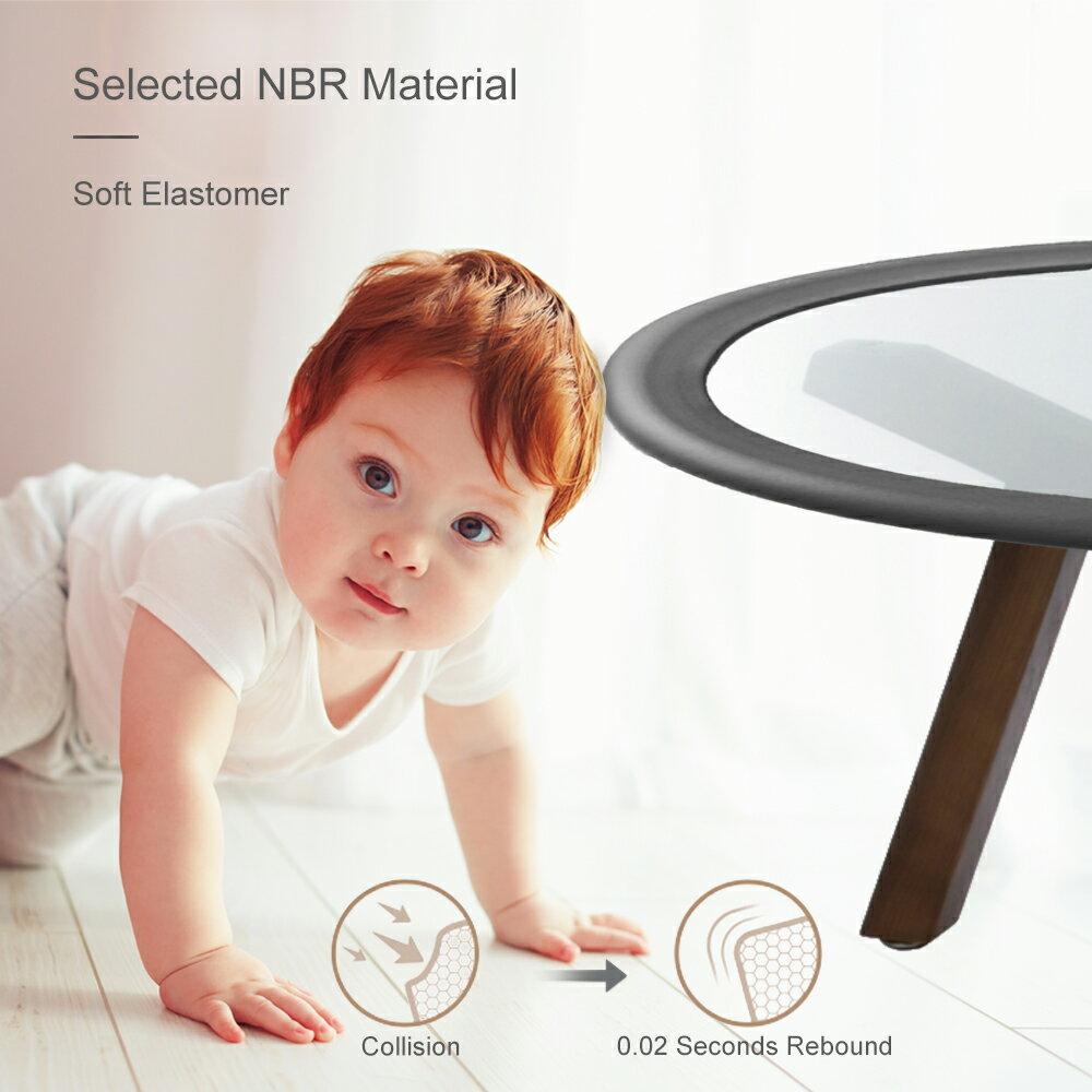 TRITINA Glass Table Protector Bumper,6.6ft 2m U Type Corner Cushion Round Coffee Desk Home Safty 1st,Baby Guard,Kid Children Proof Beige