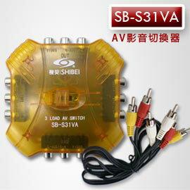 【遙控天王】SB-S31VA(視貝seebest)AV切換器3入1出 **本售價為每顆價格**