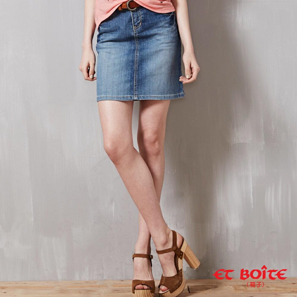 【滿千再折$188 x 5折限定↘】le jean 短裙 - BLUE WAY  ET BOiTE 箱子 - 限時優惠好康折扣